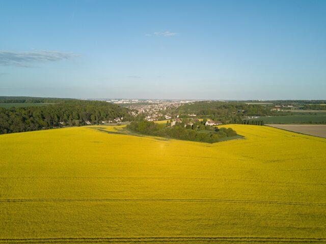 Vue aérienne de la ferme des Arpentis