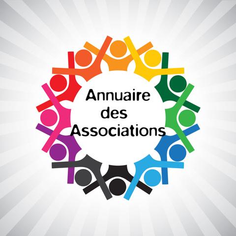 Logo coloré représentant des personnages en cercle - Annuaire des associations
